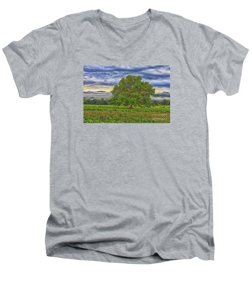 Men's V-Neck T-Shirt featuring the photograph The Tree by Geraldine DeBoer