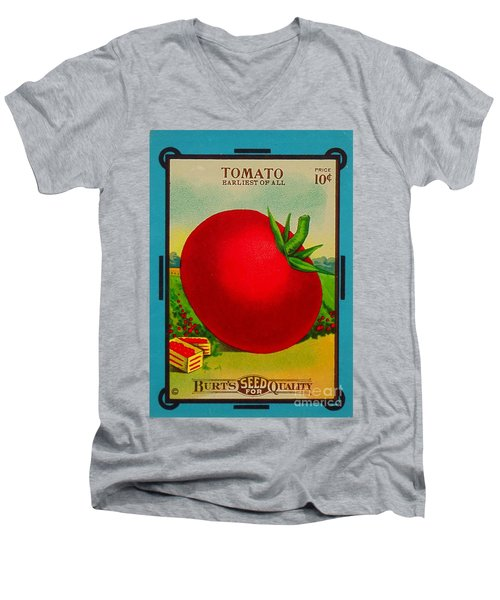 Tomato Seed Package. Antique. 100 Years Old Men's V-Neck T-Shirt