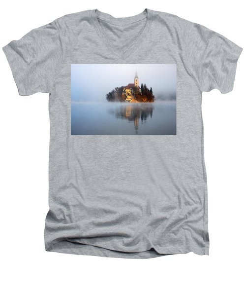 Through The Mist Men's V-Neck T-Shirt
