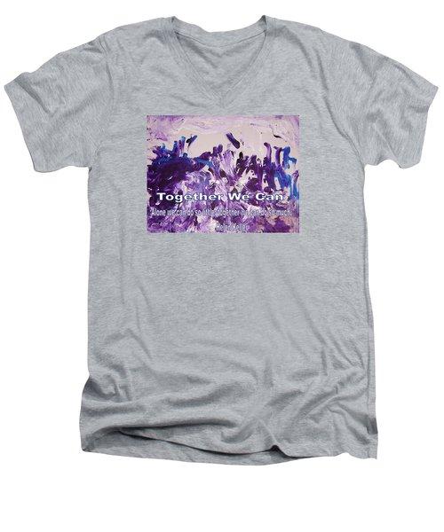 Together We Can Men's V-Neck T-Shirt