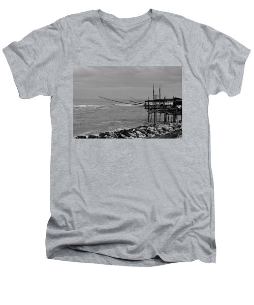 Trabocco On The Coast Of Italy  Men's V-Neck T-Shirt