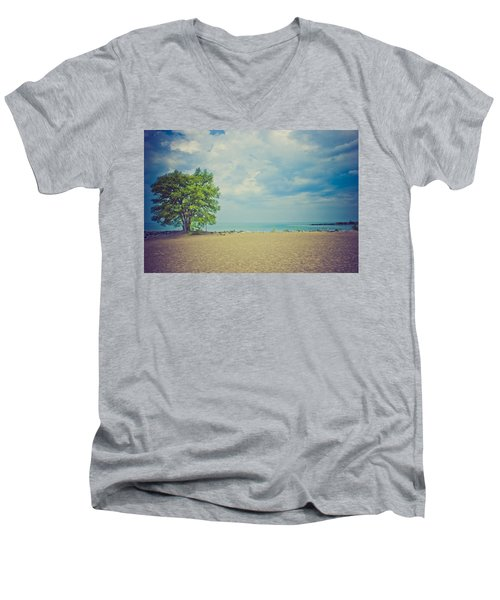 Tranquility Men's V-Neck T-Shirt by Sara Frank