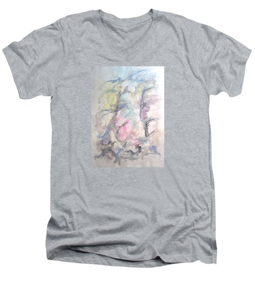 Two Trees In The Wind Men's V-Neck T-Shirt
