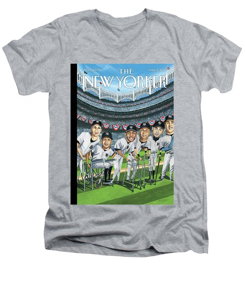 New Yorker April 8th, 2013 Men's V-Neck T-Shirt