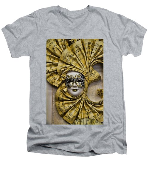 Venetian Carnaval Mask Men's V-Neck T-Shirt