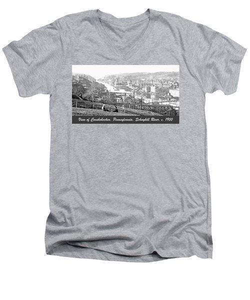 View Of Conshohocken Pennsylvania C 1900 Men's V-Neck T-Shirt