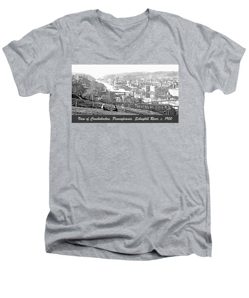 View Of Conshohocken Pennsylvania C 1900 Men's V-Neck T-Shirt