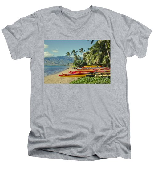 Kenolio Beach Sugar Beach Kihei Maui Hawaii  Men's V-Neck T-Shirt