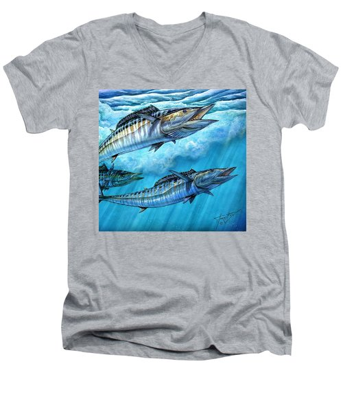 Wahoo In Freedom Men's V-Neck T-Shirt