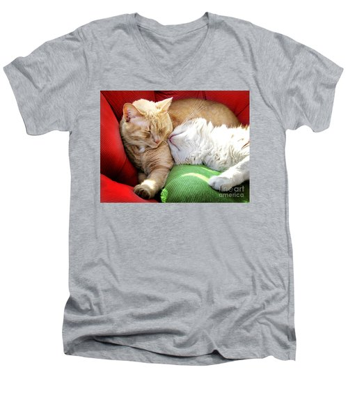 Warmth And Love For The Holidays Men's V-Neck T-Shirt