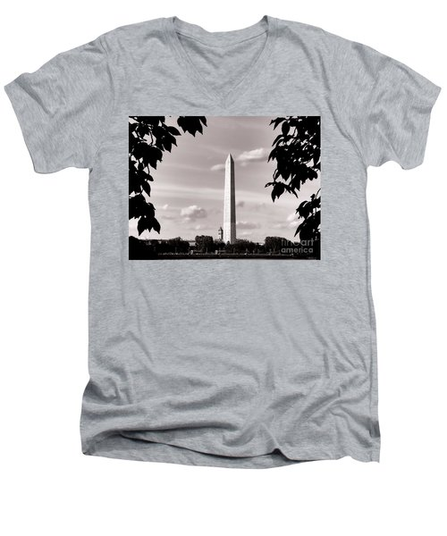 Majestic Washington Monument Men's V-Neck T-Shirt