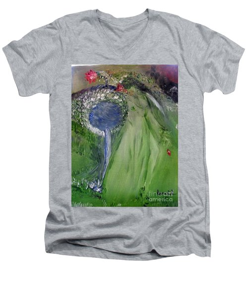 Water Girl Men's V-Neck T-Shirt by Laurie L