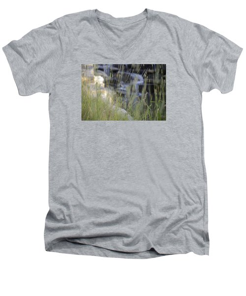 Men's V-Neck T-Shirt featuring the photograph Water Is Life 2 by Teo SITCHET-KANDA