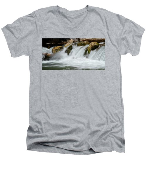 Waterfall - Zion National Park Men's V-Neck T-Shirt