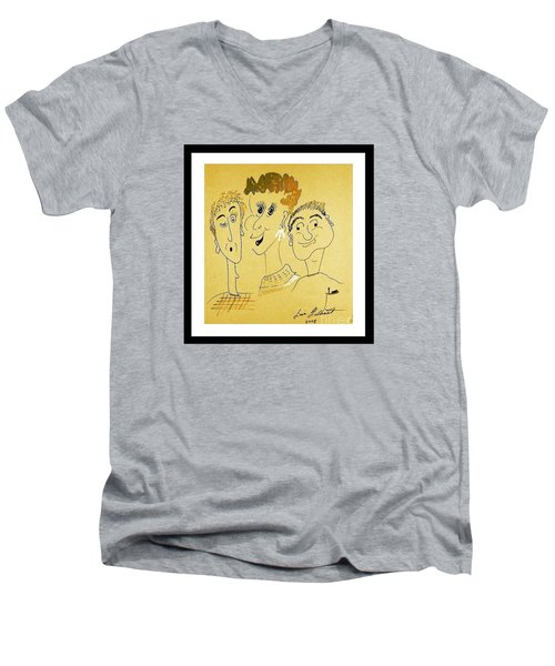 We Are Family Men's V-Neck T-Shirt by Iris Gelbart