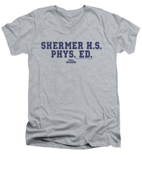 Weird Science - Shermer H.s. Men's V-Neck T-Shirt