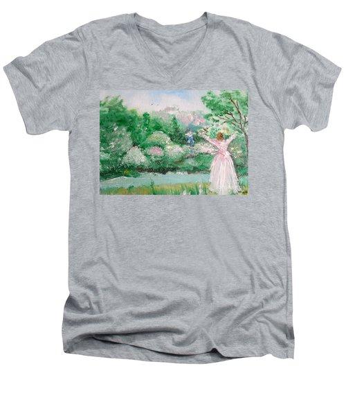 Welcome Home Love Men's V-Neck T-Shirt