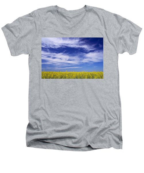 Where Land Meets Sky Men's V-Neck T-Shirt by Keith Armstrong