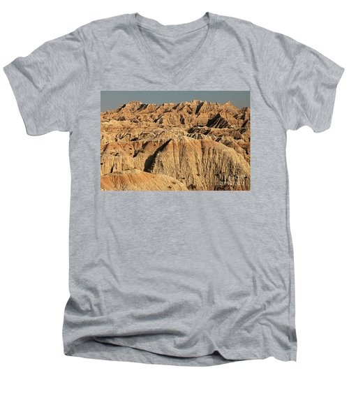 White River Valley Overlook Badlands National Park Men's V-Neck T-Shirt