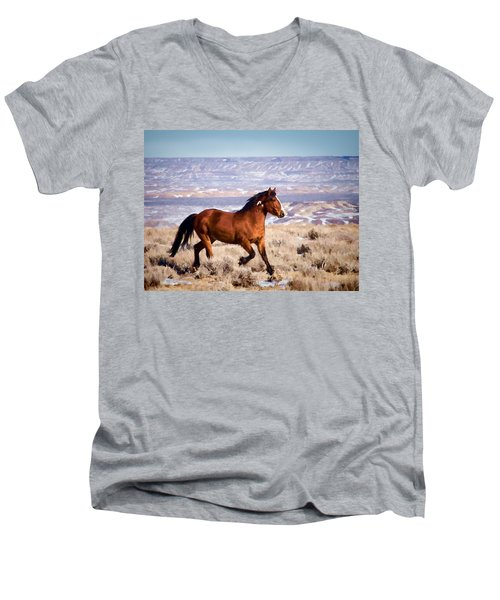 Eagle - Wild Horse Stallion Men's V-Neck T-Shirt