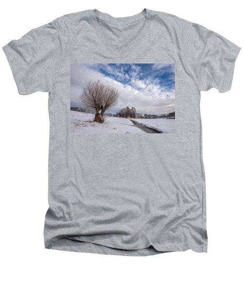 Men's V-Neck T-Shirt featuring the photograph Willow by Davorin Mance