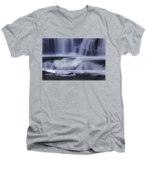 Winter Fall Men's V-Neck T-Shirt by Melissa Petrey