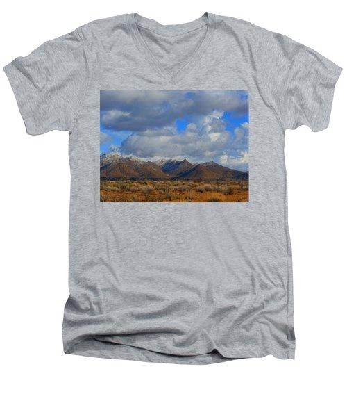 Winter In Golden Valley Men's V-Neck T-Shirt