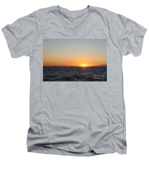 Winter Sunrise Over The Ocean Men's V-Neck T-Shirt