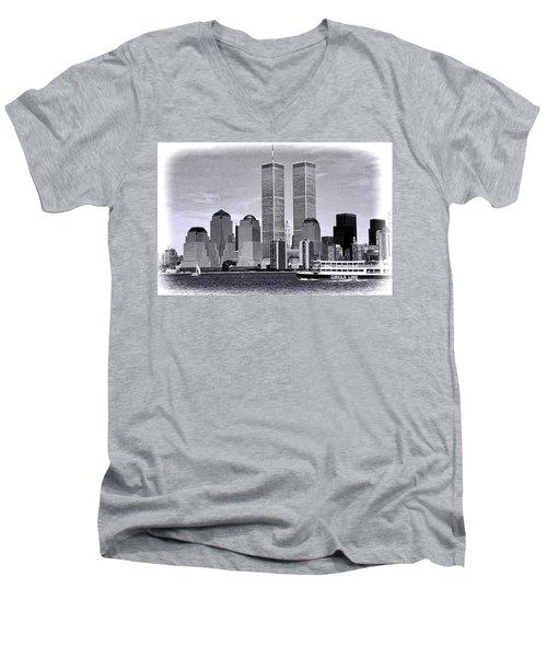 World Trade Center 3 Men's V-Neck T-Shirt