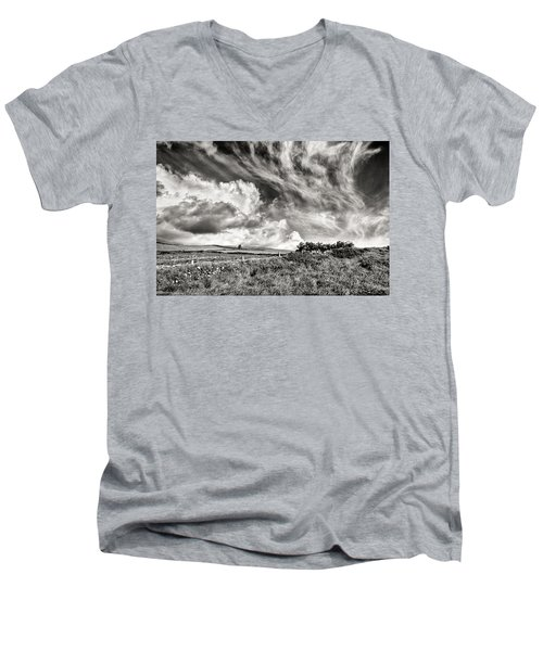 Written In The Wind Men's V-Neck T-Shirt by William Beuther