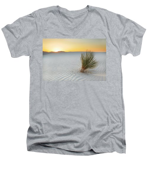 Yucca Plant At White Sands Men's V-Neck T-Shirt
