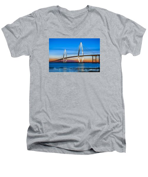 Charleston Arthur Ravenel Bridge Men's V-Neck T-Shirt