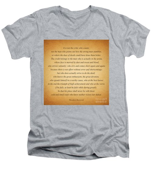 104- Theodore Roosevelt Men's V-Neck T-Shirt