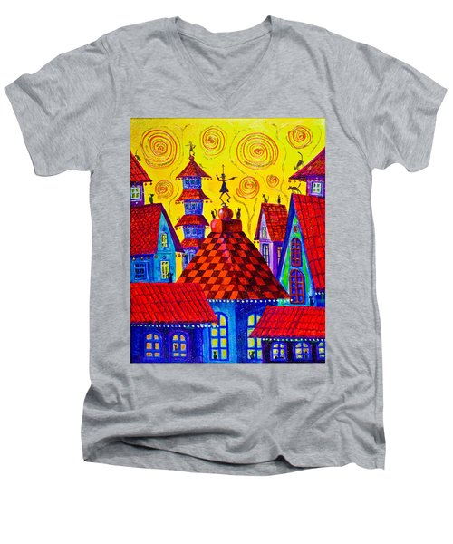 1099 Magic Town 4 - Gilded Men's V-Neck T-Shirt