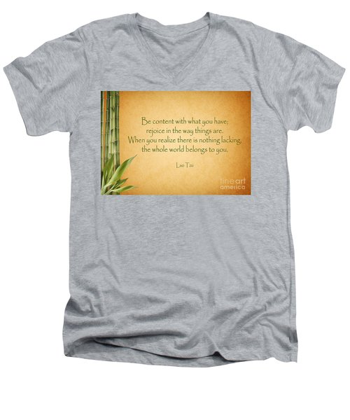 114- Lao Tzu Men's V-Neck T-Shirt