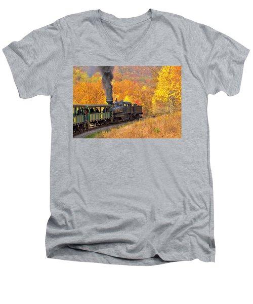 Cass Scenic Railroad Men's V-Neck T-Shirt