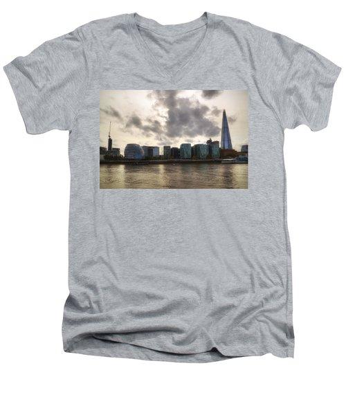 London Men's V-Neck T-Shirt by Joana Kruse