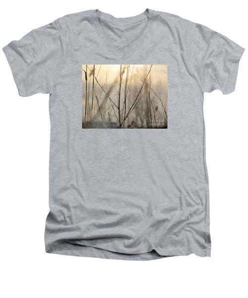 Wildflowers Winter Men's V-Neck T-Shirt by France Laliberte