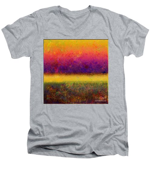 1395 Abstract Thought Men's V-Neck T-Shirt
