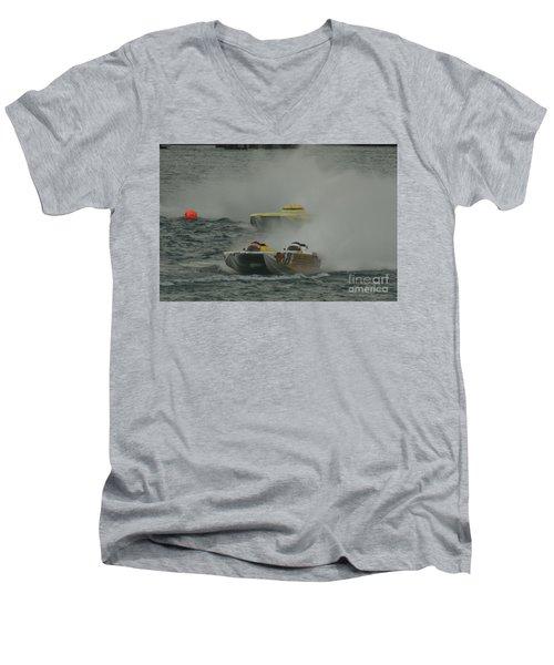 Port Huron Sarnia International Offshore Powerboat Race Men's V-Neck T-Shirt by Randy J Heath
