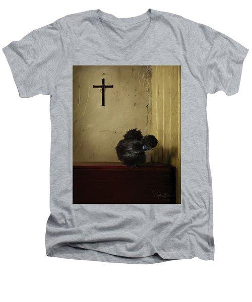 16. Black Silkie Men's V-Neck T-Shirt
