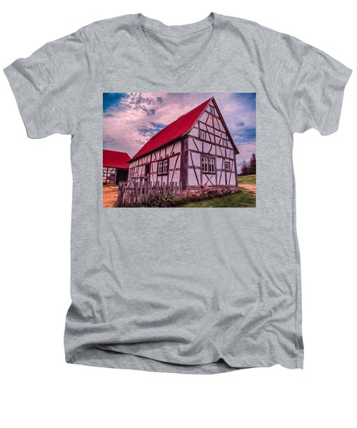 1700s German Farm Men's V-Neck T-Shirt
