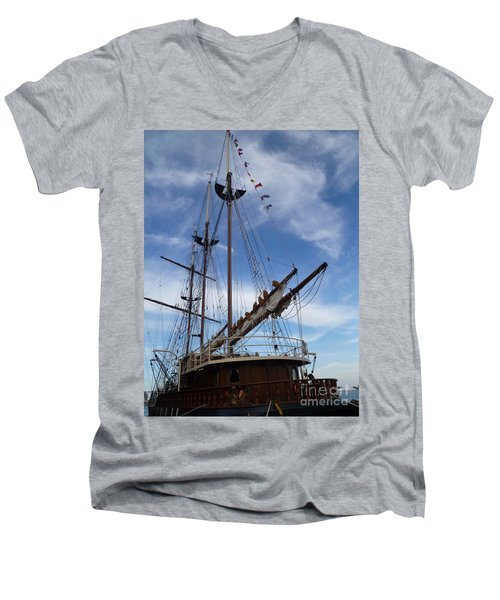 1812 Tall Ships Peacemaker Men's V-Neck T-Shirt