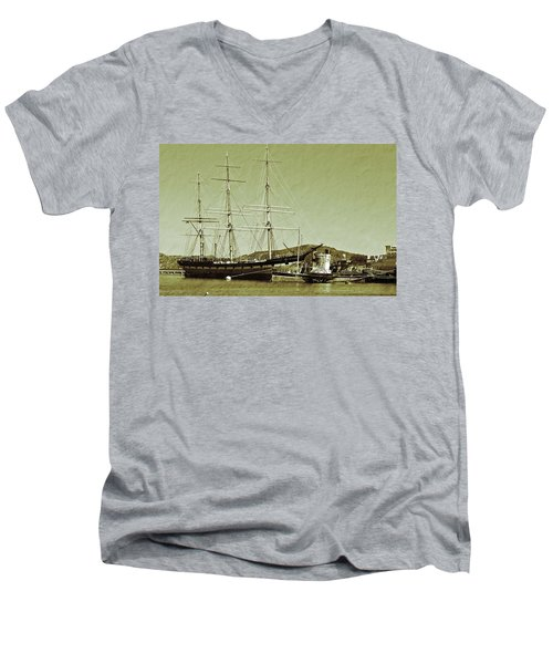 1886 Balclutha Men's V-Neck T-Shirt by Holly Blunkall