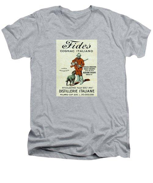 1905 Fides Italian Cognac Men's V-Neck T-Shirt