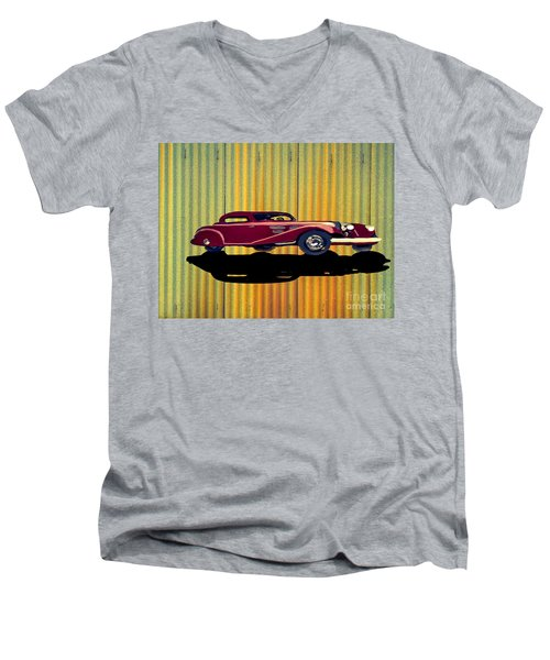 1936 Mercedes Benz Classic Car Men's V-Neck T-Shirt