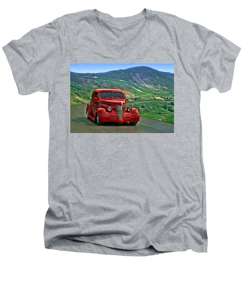 Men's V-Neck T-Shirt featuring the photograph 1939 Chevrolet Coupe by Tim McCullough