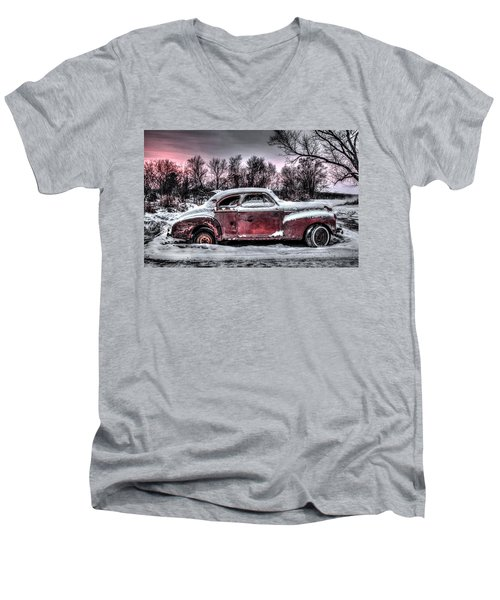 1940 Chevy Men's V-Neck T-Shirt by Ray Congrove