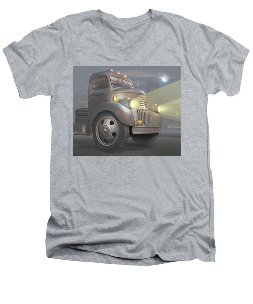 1946 Chevy Coe Men's V-Neck T-Shirt by Stuart Swartz