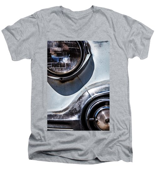 1953 Chevy Headlight Detail Men's V-Neck T-Shirt